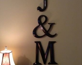 Wall Decor, Large Letter Decor, Wedding Decor, PICK YOur LETtEr and YouR  COLor