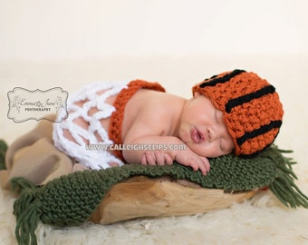 Slam Dunk Basketball Hat and Net Set Newborn photography prop
