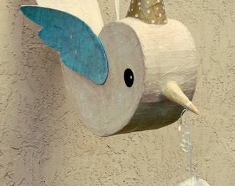 Birthday Party Messenger Bird Pinata or Decoration