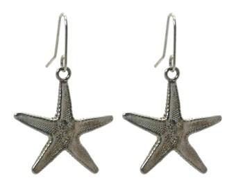 Starfish Sterling Silver Earrings