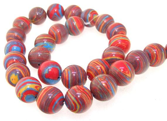 Red Malachite Stone : Mm round red malachite jasper gemstone