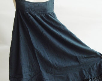 D17, Easy Going Summer Dark Grey Cotton Dress