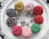 Fabric flower badge reel retractable id women accessories