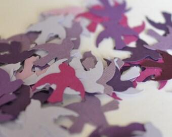 Paper Bird, Die Cut Birds, Purple Doves, 100 pieces, Wedding Confetti