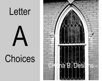 Letter A  -  Alphabet Photography  -  4x6 Photo Letter -  Unframed - Black and White or Sepia