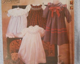 Simplicity 7644   Child's Dress Heirloom