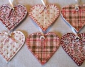 Pink Fabric Heart Ornaments