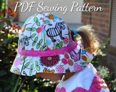Garden Hat, Beach Hat PDF Sewing Pattern S112COMBO, Baby, Toddler, Girl, Teen, Tween, Woman Digital Hat Sewing Pattern