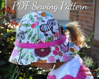 Garden Hat, PDF Sewing Pattern, Sun Hat Pattern, Baby Hat Pattern, Girl Hat Pattern, Womens Hat Pattern, Hat Sewing Pattern, Gardening Hat