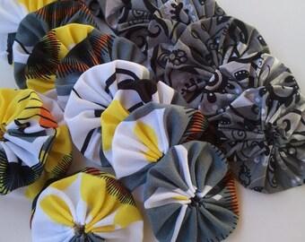 16 Yo Yos -  popular Yellow/grey combo -  for crafting