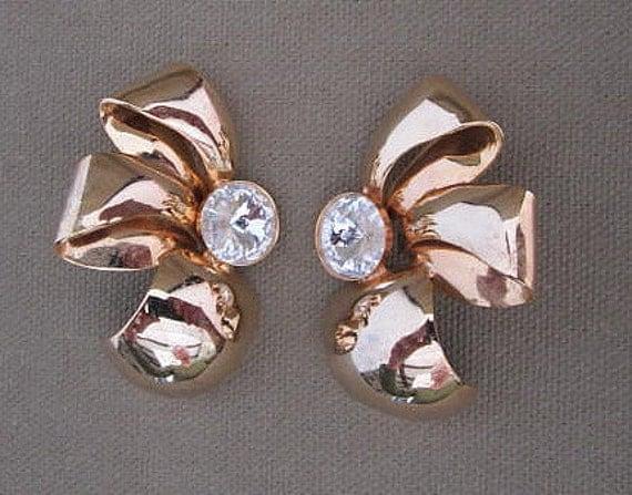 Large Bow Earrings, Studs, jewelry on sale, rhinestones