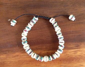 Embedded Yak bone wrist mala/ bracelet