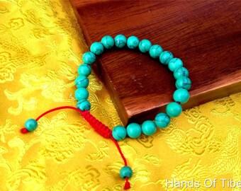 Turquoise wrist mala/  Bracelet for meditation 8mm GMS-36