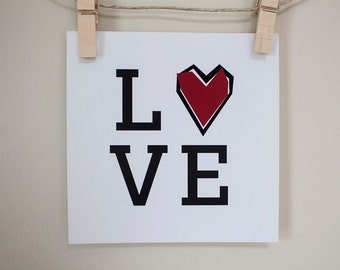 LOVE - 5 x 5 Print