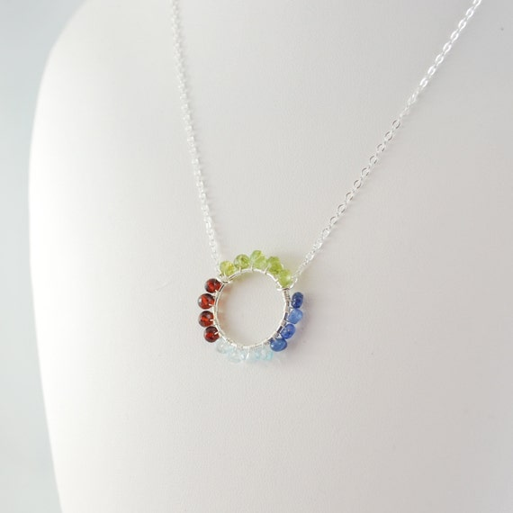 s day necklace custom birthstone jewelry sterling