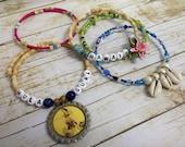 Hula Gurl, Hawaii  Mix & Match Bracelet  5  piece Set