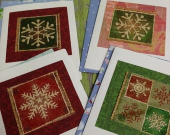 Snowflake  Blank Christmas Cards-12 Count