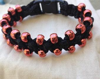 Dazzle Macrame Bracelet (Black)