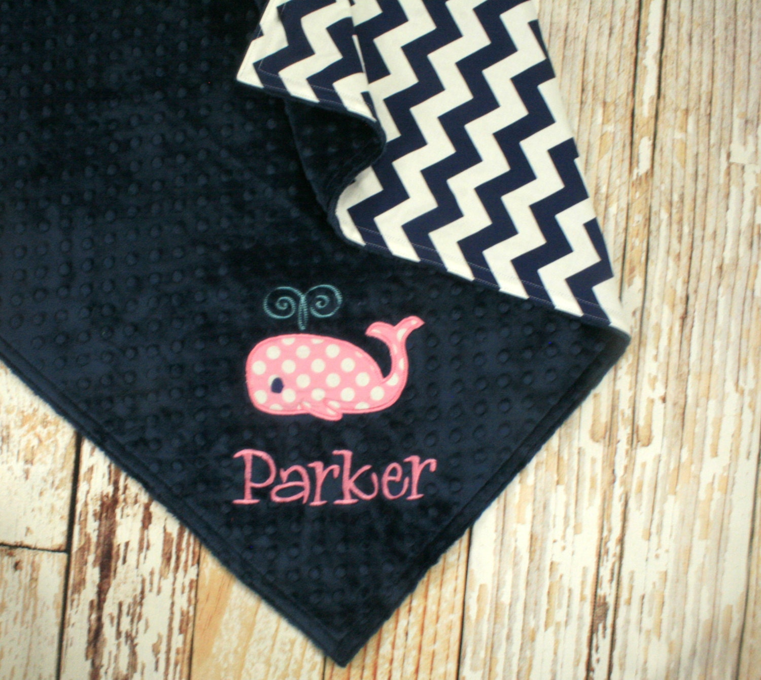 Personalized Whale Baby Blanket Whale Applique And By
