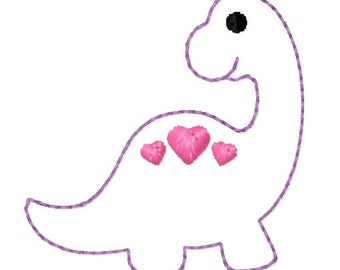 Dinosaur Love Feltie Applique Machine Embroidery Design 1.5x1.5 2x2 Valentine's Day INSTANT DOWNLOAD