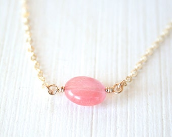 Cherry Blossom Necklace - gold filled everyday delicate dainty minimal gem jewelry