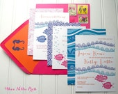 Tropical/Destination/Beach Wedding Invitations--Sample