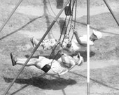 Never Too Old to Swing, PICK ONE - YOUR Choice, Urban Art, Black and White Print, Elderly Women, by Elizabeth Thomas