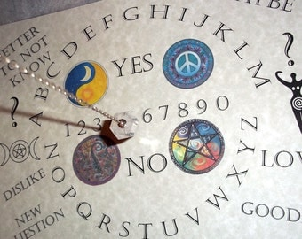 Spirit Guide Pendulum Dowsing Board  Print on  Parchment Paper
