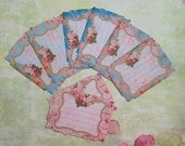 Shabby Chic Note Cards set of 8 DOUBLES No.522