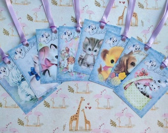 Puppies & Kittens Gift Tags set of 8 No.507
