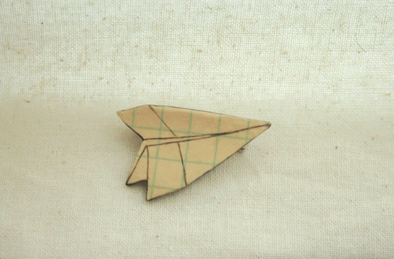 paper plane brooch