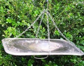 Served on a Silver Platter, Bird Feeder Tray, Tarnished Silver