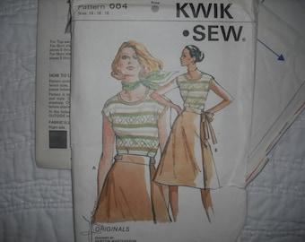 Vintage Kwik Sew 684 - skirt and Top