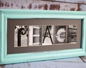 Any Size Custom Name Frame - Letter Art Photography - Choose Your Frame, Matting and Photos - Wedding/Anniversary Gift
