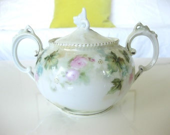 R S Prussia Antique Sugar Bowl