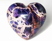 Rich 2 Pieces Sea Sediment Jasper Love / Heart Shaped Cabochon J42B5555