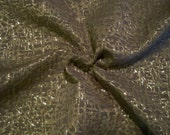 REMNANT--Bronze Abstract Design Textured Metallic Brocade Fabric--1.75 Yards
