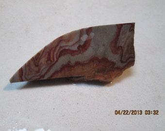 Banded Rhyolite Wonderstone Mauve Gray Yellow Jasper Lapidary Slab Small Free Form Wrap Cut It