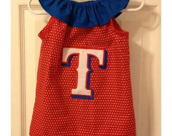 Texas Rangers Inspired Ruffle Dress