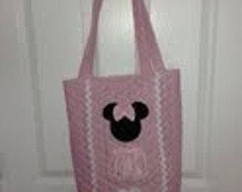 Minnie Mouse Pink Quilted Tote/Diaper Bag