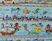 "Cotton fabric - Peter pan - 1 yard - fairy tale - 2 colors, pure cotton, fairy tale,  Check out with code ""5YEAR"" to save 20% off"