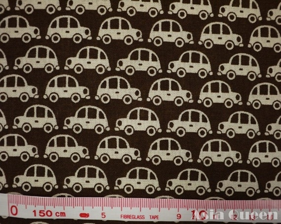 "Cotton fabric - Amy butler go cars - brown - half yard - 2 colors,sewing fabric, Check out with code ""sale15"" to save 15% off"
