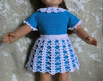 188 Touch of Lace  Skirt Set   - Crochet Pattern For American Girl Dolls