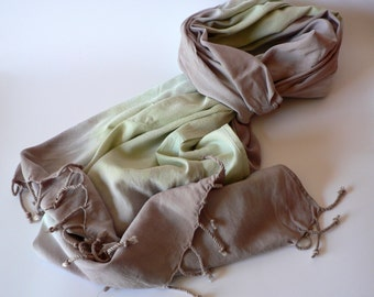 SALE Hand Painted Rayon Scarf- Woods 20 x 70