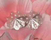 Trifari Vintage Earrings Carousel Beaded Top Pattern, Silver, Mint Condition, Clip On, CLEARANCE