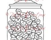 Candy Hearts Jar