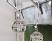 Chorus Music Earrings, Old Notes from a Church Hymnal