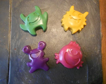 Little Monster Crayons Set of 4