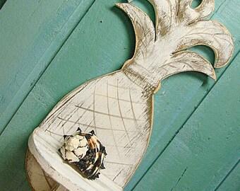 Shelf Pineapple Wall Sign Bahama Beach House Tropical Art Decor