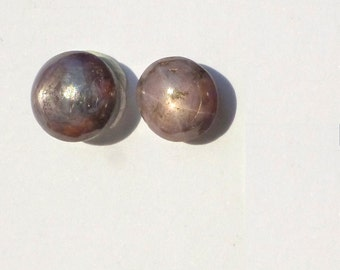 LoW BaLL PrIcE Star RUBy  / Sapphire. MoViNg ShEEn and Stat Natural. Pink  /  Purple Red. 2 pc. 7 cts. 7-8mm (ru445)